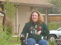 Carolyn in wheelchair